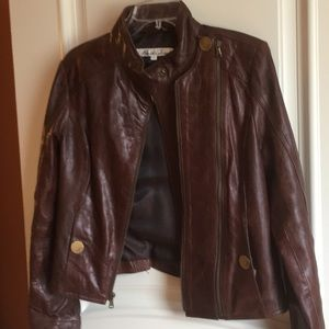 Kenneth Cole Moto Leather Jacket